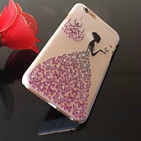 Mode Erleichterung hohle Schmetterlingsrockmädchenmuster PC harter Fall für iphone 6 Plus 2629988