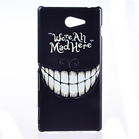 Smile Face Pattern PC Hard Back Case for Sony Xperia M2 S50h