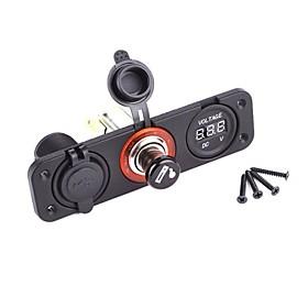 Dual Usb Adapter Charger Digital Voltmeter Sockets 2665898