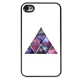 Sternenhimmel im Dreieck Design Aluminium-Hülle für das iPhone 4 / 4s