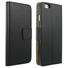 Case For Apple iPhone 6 Plus / iPhone 6 Wallet / Card Holder / with Stand Full Body Cases Solid Colored Hard PU Leather for iPhone 6s Plus / iPhone 6s / iPhone
