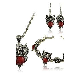 Women's Wedding Party Daily Casual Stainless Steel Turquoise Alloy Earrings Necklaces 2807475