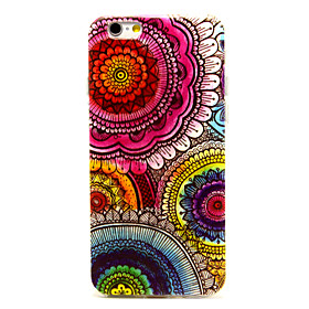 Sun Flower Colorful Pattern TPU Soft Cover for iPhone 6S Plus/6 Plus 2176296