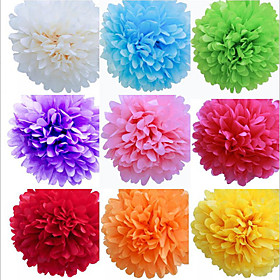 8 Inch Tissue Paper Pom Poms Wedding Party Decor Craft Paper Flowers Wedding(set Of 4)