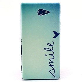 Smile Everyday From Heart Pattern Clearly PC Hard Case for Sony Xperia M2 S50h