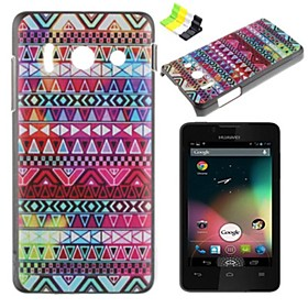 Retro Stripes Pattern PC Hard Case and Phone Holder for Huawei Y300