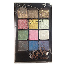 12 Eyeshadow Palette Dry Eyeshadow palette Powder Normal Smokey Makeup / Daily Makeup / Party Makeup 2660009