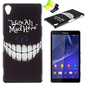 Black Teeth Pattern PC Hard Case and Phone Holder for Sony Xperia Z3