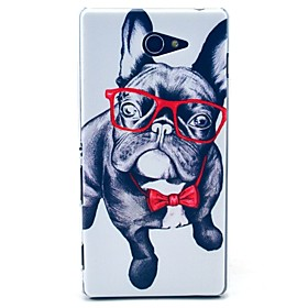 Sunglass Happy Dog Pattern Clearly PC Hard Case for Sony Xperia M2 S50h