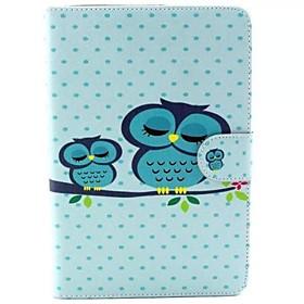 Cute Owl Pattern PU leather Cases for iPad mini 1 2 3