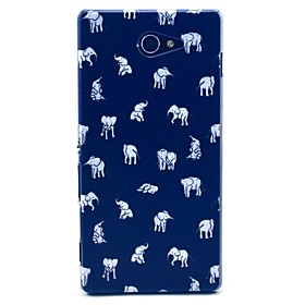 Indian Elephant Cartoon Pattern Clearly PC Hard Case for Sony Xperia M2 S50h