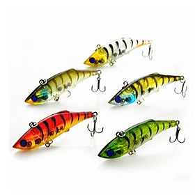 Hot Sale 10g 7.5cm Hard Plastic Sinking Baits VIB Fishing Lures(5pcs) 2598500