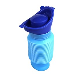 Portable Mini Outdoor Travel Emergency Retractable Mobile Toilet Urinal - Blue 2632578