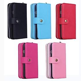 multiuso carteira zip capa de couro pu com slot para cartão de suporte e para o iphone 6 (cores sortidas) 2600391