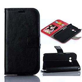 Crazy Horse Design PU Leather Full Body Case for Samsung Galaxy ACE 4 G313H (Assorted Colors)
