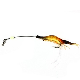 Simulation Shrimp Style Fishing Hook Bait - Yellow 2676668