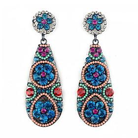 YUAN Fashion Casual High Quality Waterdrop Rhinestone Earrings 2979789