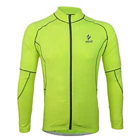 Arsuxeo Men's Breathable Long Sleeve Cycling Jersey 2552516