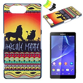Lion Pattern PC Hard Case and Phone Holder for Sony Xperia Z3 Compact/Z3 mini