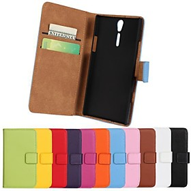 Protective Leather Case with Card Holder for Sony Xperia S Lt26i (Assorted Colors)