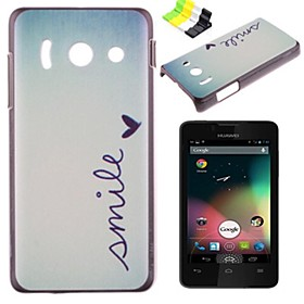 Smile Pattern PC Hard Case and Phone Holder for Huawei Y300