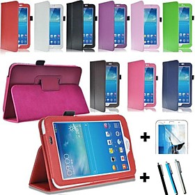 PU Leather Stand Case Cover for Samsung Galaxy Tab3 7