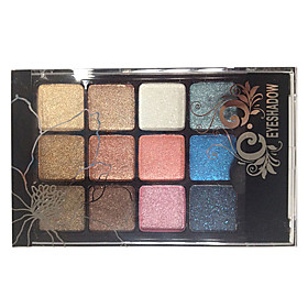 12 Eyeshadow Palette Dry Eyeshadow palette Powder Normal Smokey Makeup / Daily Makeup / Party Makeup 2660006
