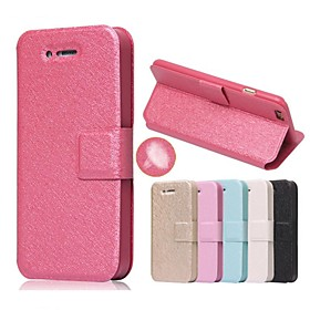 Case For Apple iPhone 5 Case iPhone 6 iPhone 6 Plus iPhone 7 Plus iPhone 7 Card Holder with Stand Flip Full Body Cases Solid Color Hard 2560347