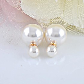 Women's Pearl Stud Earrings - Pearl, Imitation Pearl Fashion White For Daily
