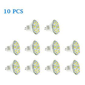 Image of 10 pcs GU4(MR11) 6 W 12 SMD 5730 570 LM Warm White / Cool White MR11 Spot Lights DC 12 V