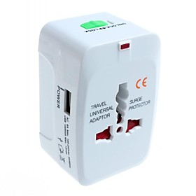 Universal Travel Power Plug Adapter With 1 USB for International Travel 2707957
