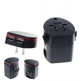Universal Travel Power Plug Adapter with 2 USB for International Travel 2707952