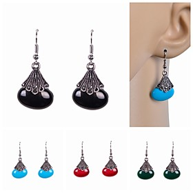 Women's Resin Drop Earrings Imitation Pearl Resin Rhinestone Earrings Ladies Luxury Jewelry Red / Green / Blue For Wedding Party Daily Casual Sports / Imitatio
