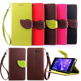 KARZEA(tm) Leaf Snap PU Full Body Case with TPU Back Cover, Stand and Stylus for Sony Xperia M2 S50h (Assorted Colors)