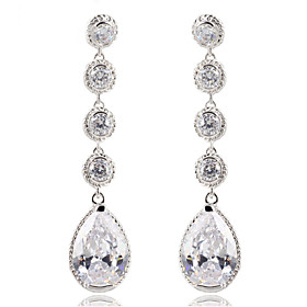 High Quality Women Drop Earrings Lady 10KT White Gold Filled Earring AAA Zircon Fashion Jewelry For Party 2886838