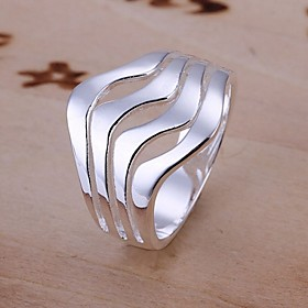 Women's Statement Ring wrap ring Sterling Silver Ladies Fashion Ring Jewelry For Wedding Party Daily Casual 8