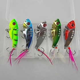 Hard Bait 12g Metal VIB Fishing Lures Set (5pcs) 2846654