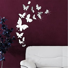 Animals 3D Wall Stickers Mirror Wall Stickers Decorative Wall Stickers, Vinyl Home Decoration Wall Decal Wall