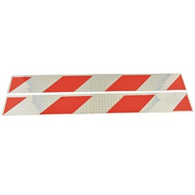 Car Truck Universal Parallelogram Type Reflective Stickers(2PCS)--SilverRed 2820675