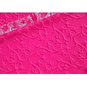 FOUR-C Fondant Decoration Embossing Rolling Pin Gumpaste Tools Color Transparent, 1PCS 2822224