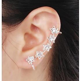 Women's Synthetic Diamond Ear Cuff - Rhinestone, Imitation Diamond Star Luxury, Birthstones For Wedding Party Daily