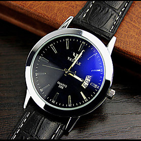 High-grade Leather Blue Ray Glass Business Quartz Watch Wrist Watch Cool Watch Unique Watch 3157073