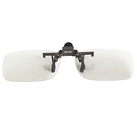 LianSan 100% UV 3D Rectangle Clip-on Sunglasses Lenses