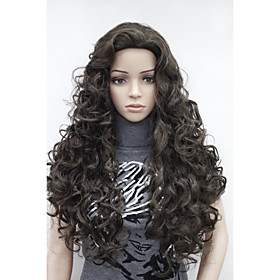 New Fashion Brown Long Curly Wonen's Full wig 2961162