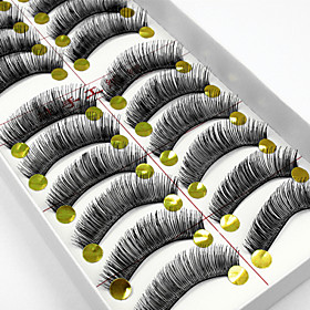 10 Pairs High Quality Natural Long Black False Eyelashes Handmade Full Bushy Lashes Makeup Eyelashes Extensions 2958950