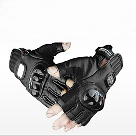 Motorcycle Glove Genuine Leather Outdoor Sports Fingerless Military Tactical Gloves Hunting Cycling  Half Finger Gloves 3051798