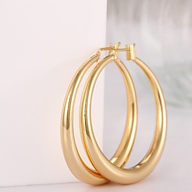Women's Hoop Earrings - Gold Plated, Rose Gold Plated Fashion Screen Color / Rose Gold For 3877232