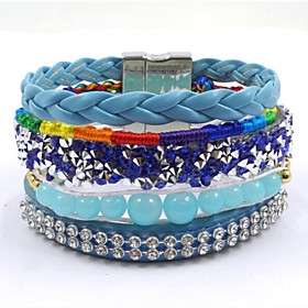 Fashion Nepal Handmade Bohemia  Woven Magnet Clasp Bracelets