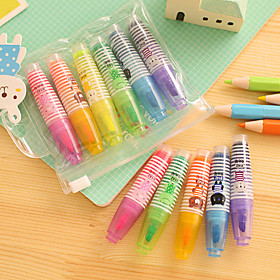 Cute Fluorescent Highlight Set(6 PCS/Set) 3020789