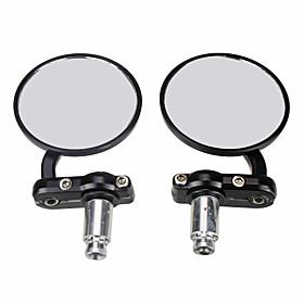 "Pair Universal 7/8"""" Motorcycle Mirrors Black Motobike Rear View Side for Suzuki"" 3027998"